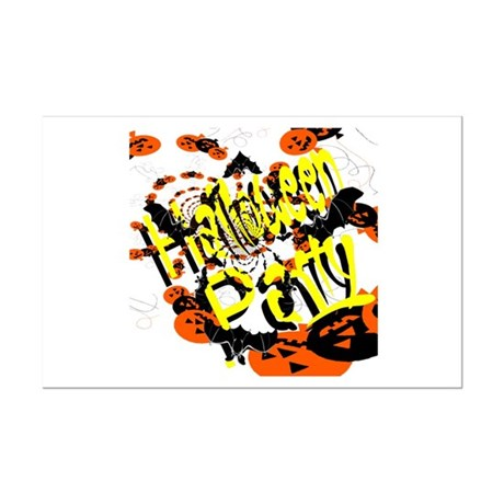 Halloween Party II Mini Poster Print