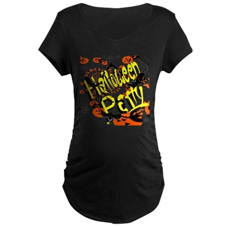 Halloween Party II Maternity Dark T-Shirt