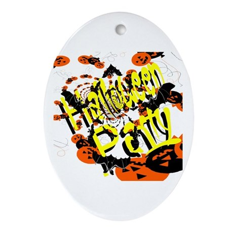 Halloween Party II Oval Ornament
