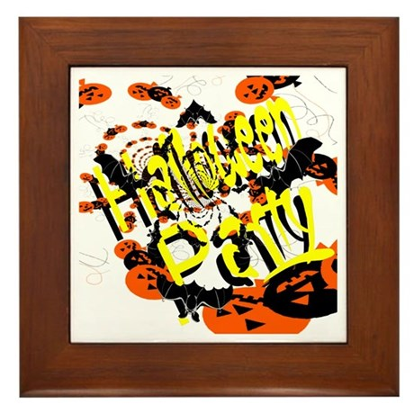 Halloween Party II Framed Tile