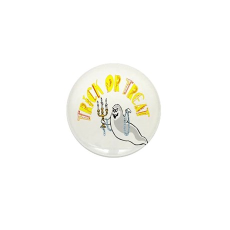 Prankster Ghost Mini Button (100 pack)