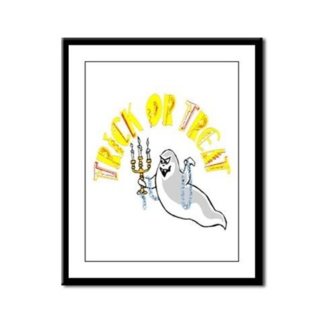 Prankster Ghost Framed Panel Print