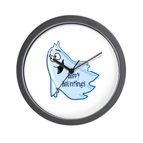 Happy Hauntings Wall Clock