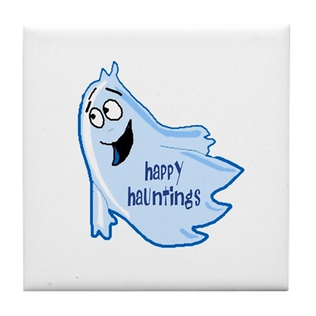 Happy Hauntings Tile Coaster
