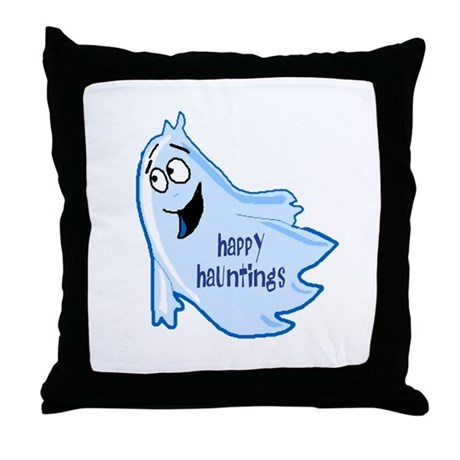 Happy Hauntings Throw Pillow