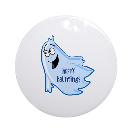 Happy Hauntings Ornament (Round)