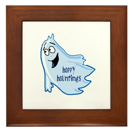 Happy Hauntings Framed Tile