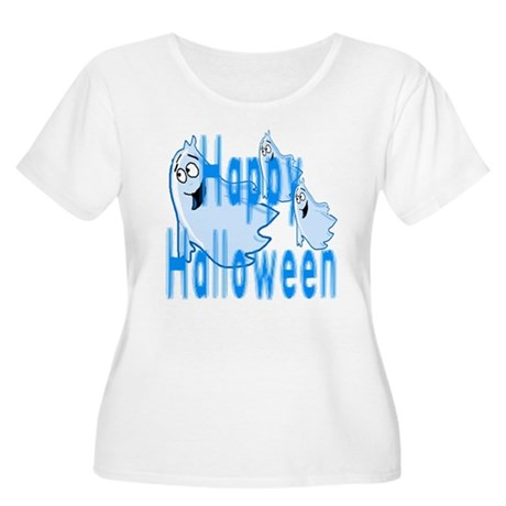 Happy Halloween Women's Plus Size Scoop Neck T-Shi