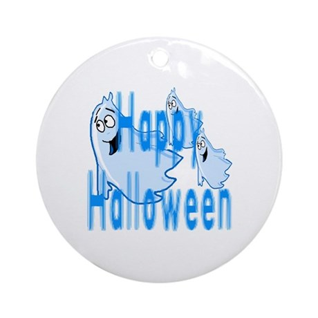Happy Halloween Ornament (Round)