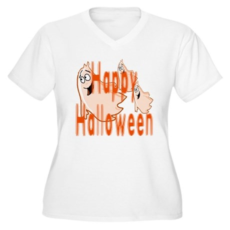 Happy Halloween Women's Plus Size V-Neck T-Shirt