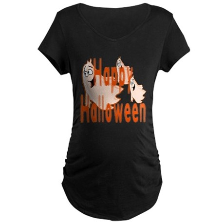 Happy Halloween Maternity Dark T-Shirt