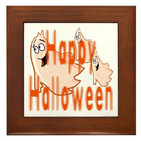Happy Halloween Framed Tile