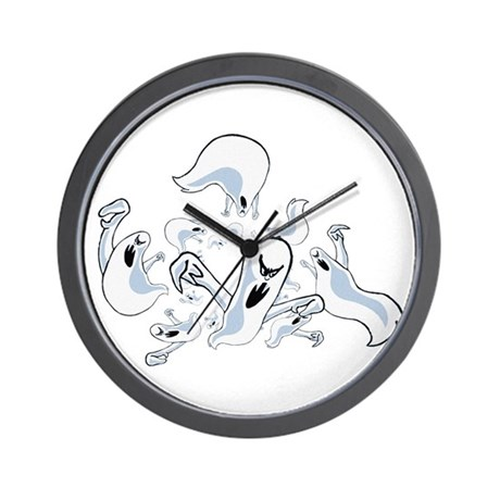 Ghosts Wall Clock