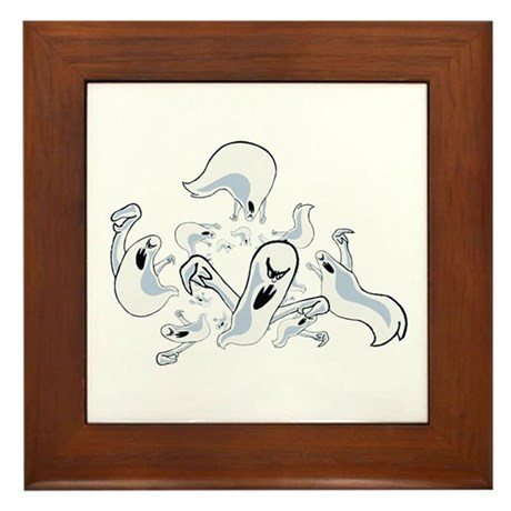 Ghosts Framed Tile