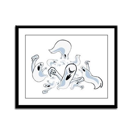 Ghosts Framed Panel Print