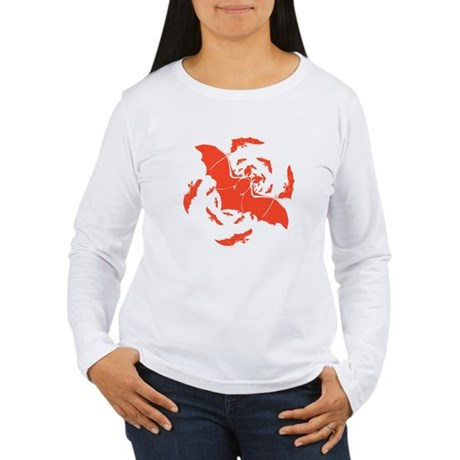 Orange Bats Women's Long Sleeve T-Shirt