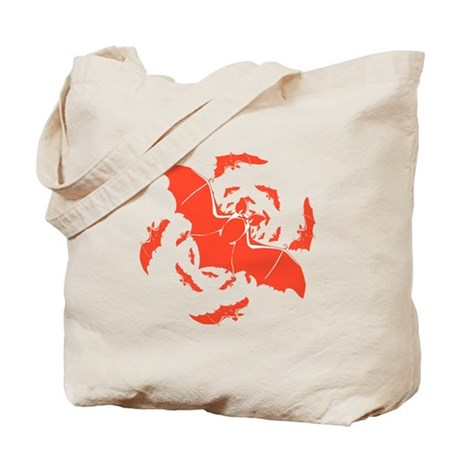 Orange Bats Tote Bag
