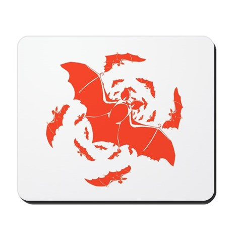 Orange Bats Mousepad