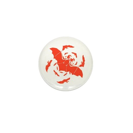 Orange Bats Mini Button