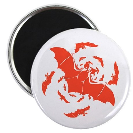 "Orange Bats 2.25"" Magnet (10 pack)"