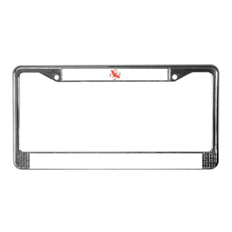 Orange Bats License Plate Frame