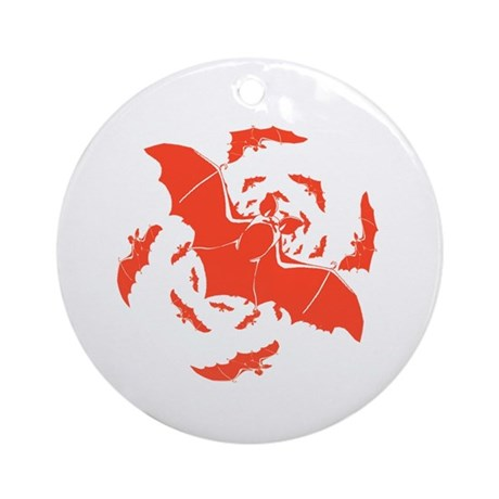 Orange Bats Ornament (Round)