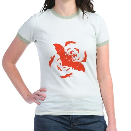 Orange Bats Jr. Ringer T-Shirt