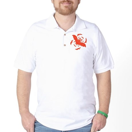 Orange Bats Golf Shirt