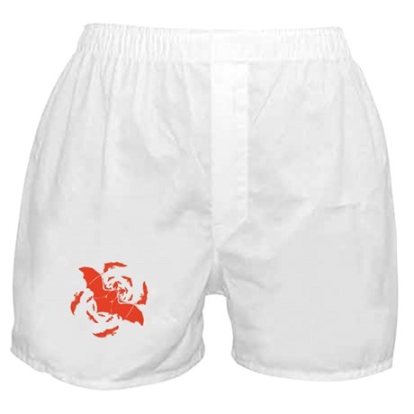 Orange Bats Boxer Shorts