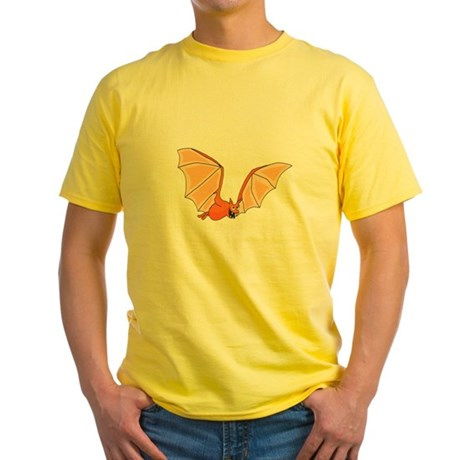 Flying Bat Yellow T-Shirt