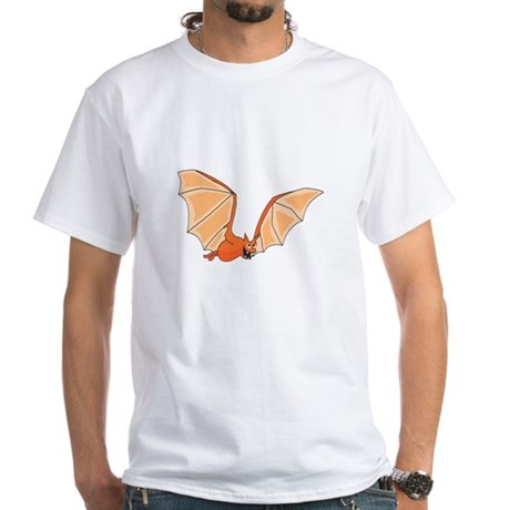 Flying Bat White T-Shirt