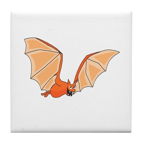 Flying Bat Tile Coaster