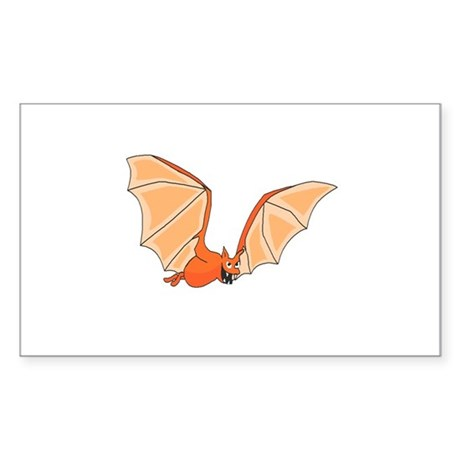 Flying Bat Rectangle Sticker