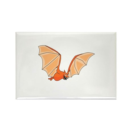 Flying Bat Rectangle Magnet