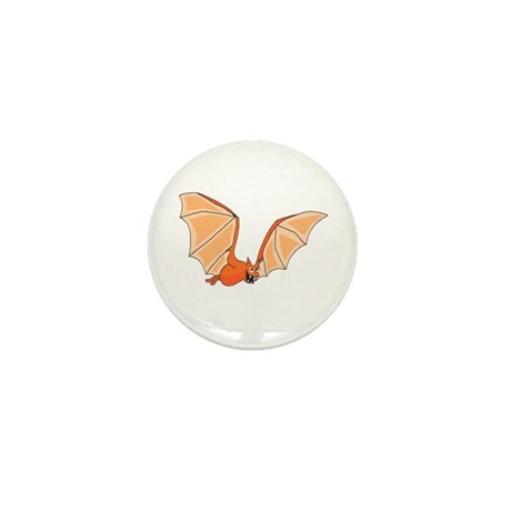 Flying Bat Mini Button