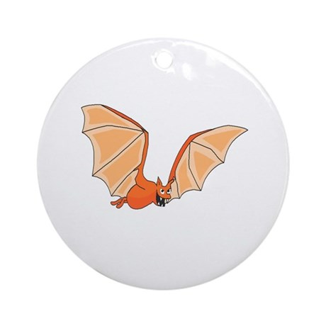 Flying Bat Ornament (Round)