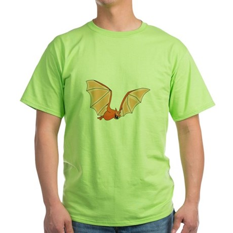Flying Bat Green T-Shirt