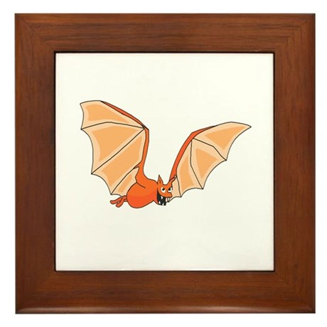 Flying Bat Framed Tile