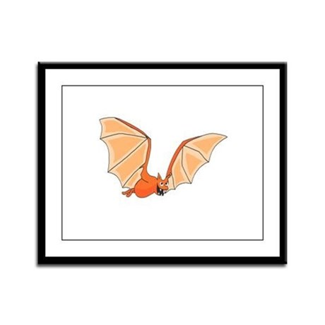 Flying Bat Framed Panel Print
