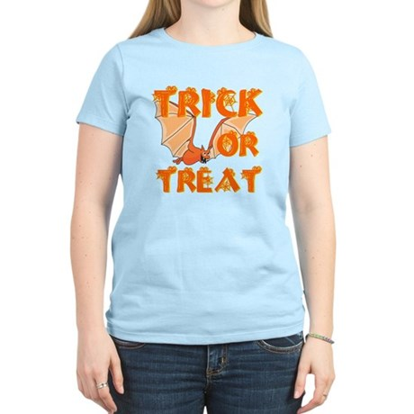 Trick or Treat Bat Women's Light T-Shirt