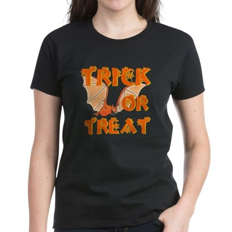 Trick or Treat Bat Women's Dark T-Shirt