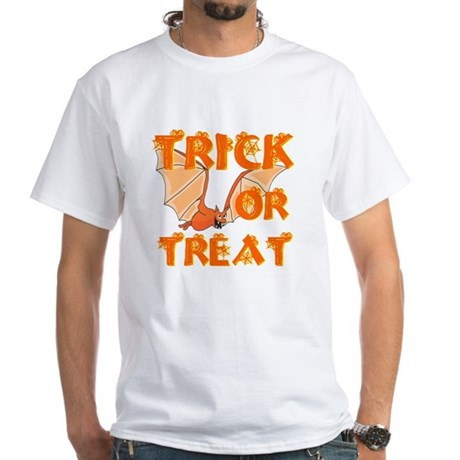 Trick or Treat Bat White T-Shirt