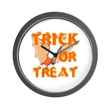 Trick or Treat Bat Wall Clock
