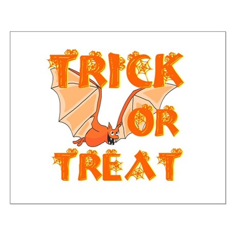 Trick or Treat Bat Small Poster