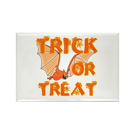 Trick or Treat Bat Rectangle Magnet (100 pack)