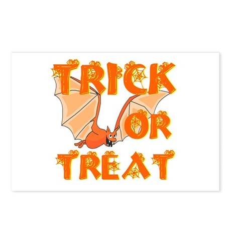 Trick or Treat Bat Postcards (Package of 8)