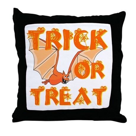 Trick or Treat Bat Throw Pillow