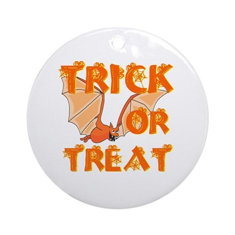 Trick or Treat Bat Ornament (Round)
