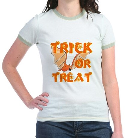 Trick or Treat Bat Jr. Ringer T-Shirt