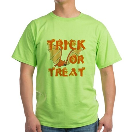 Trick or Treat Bat Green T-Shirt